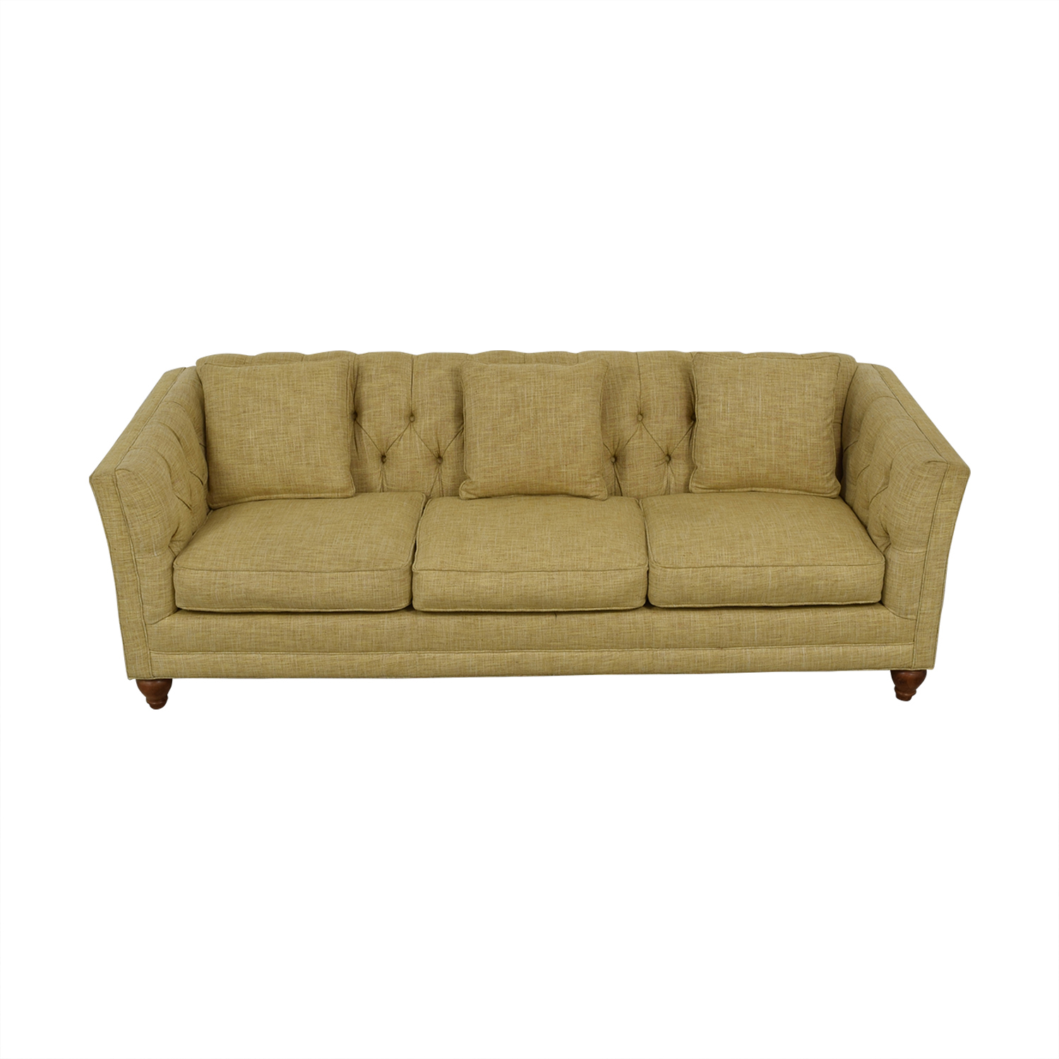 Country Willow Country Willow Tan Three-Cushion Sofa dimensions