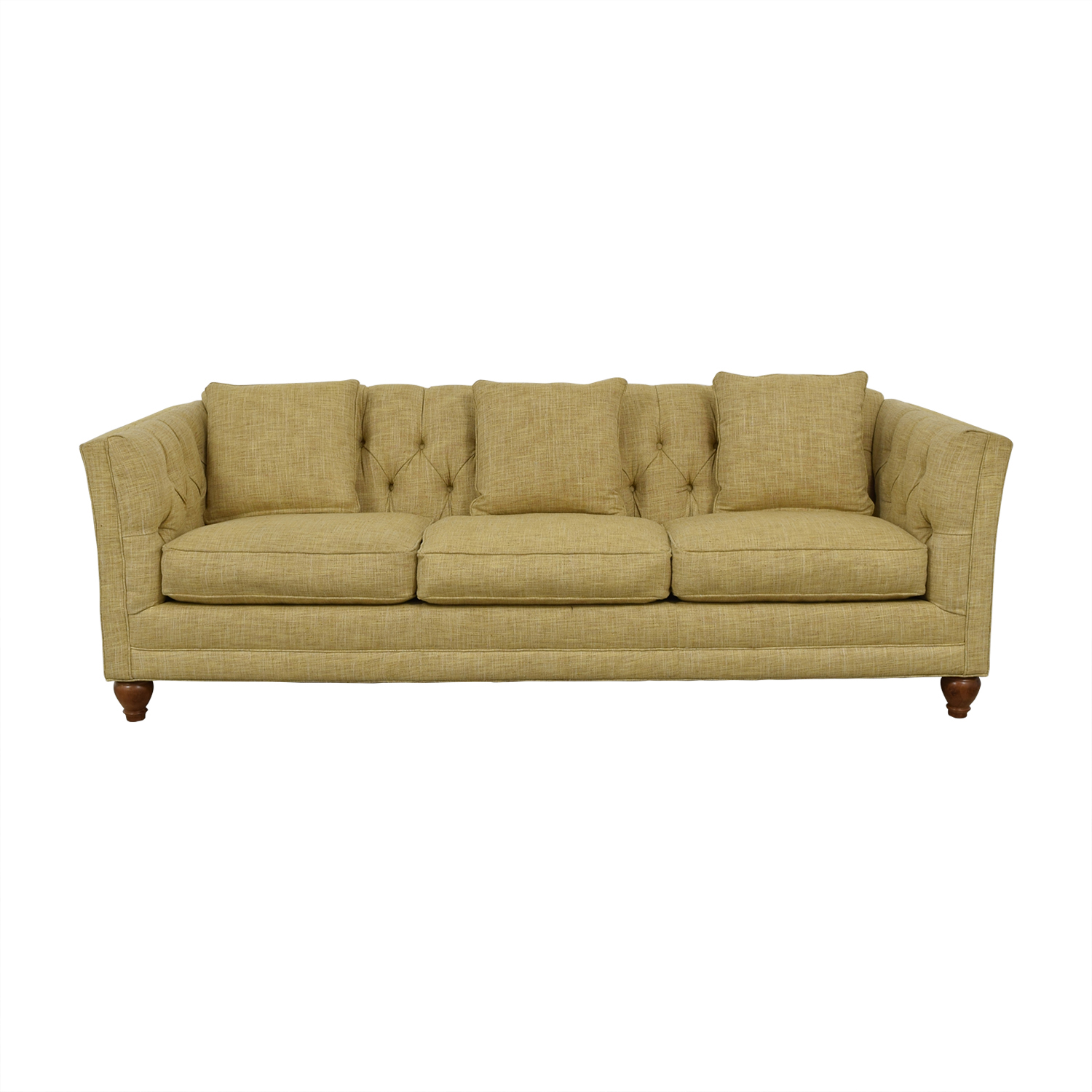 Country Willow Country Willow Tan Three-Cushion Sofa Classic Sofas