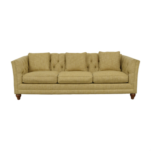 Country Willow Country Willow Tan Three-Cushion Sofa