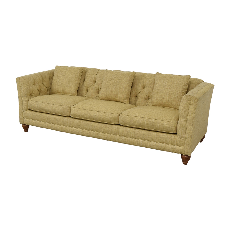 Country Willow Tan Three Cushion Sofa Sofas
