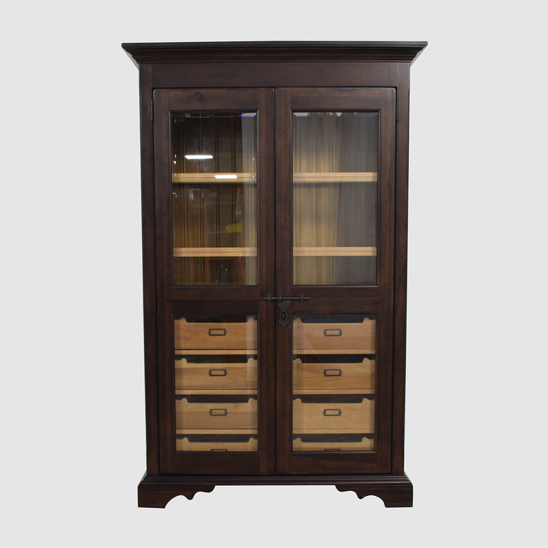 shop Country Willow Country Willow Eight Drawer Wood and Glass Cabinet online