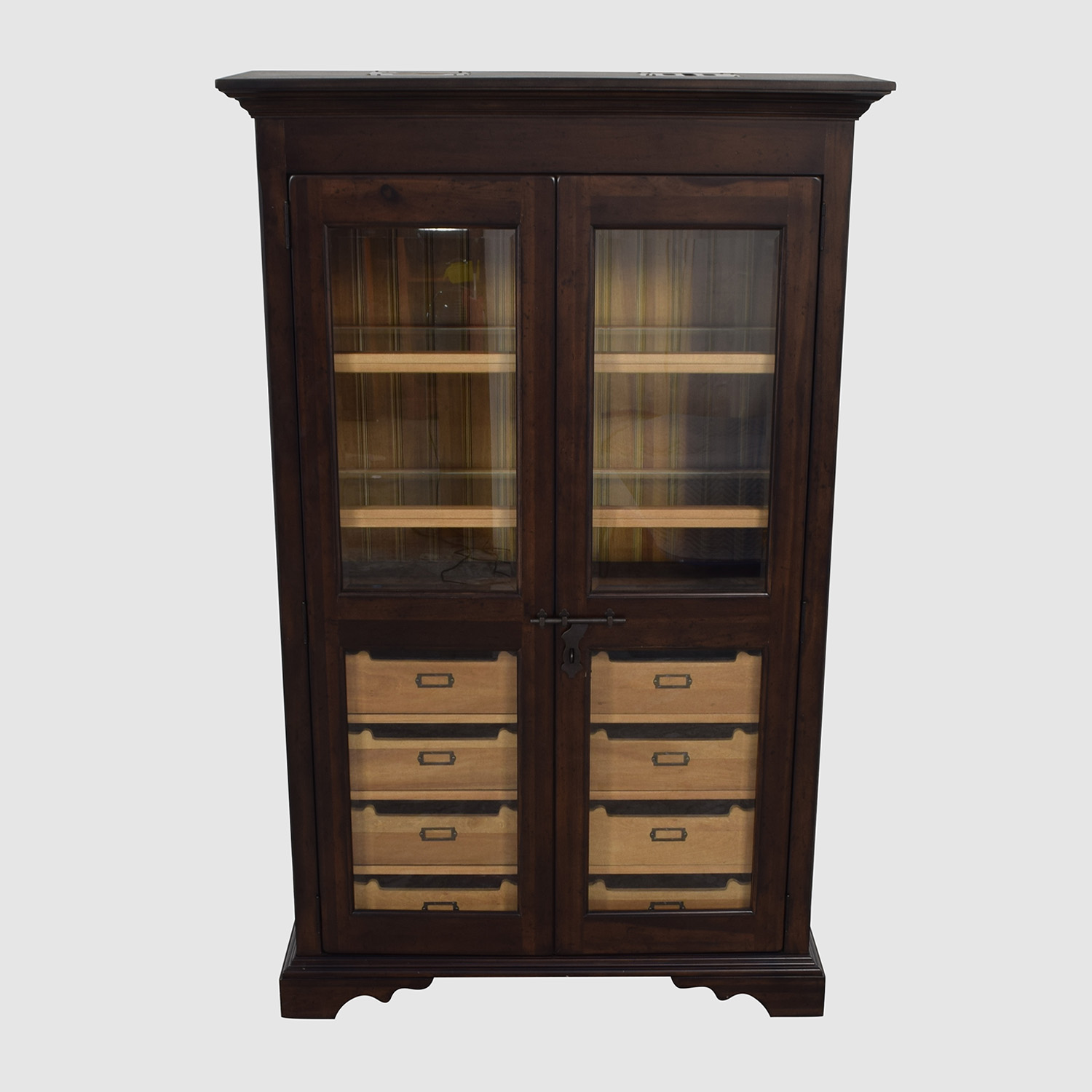 Country Willow Country Willow Eight Drawer Wood and Glass Cabinet on sale