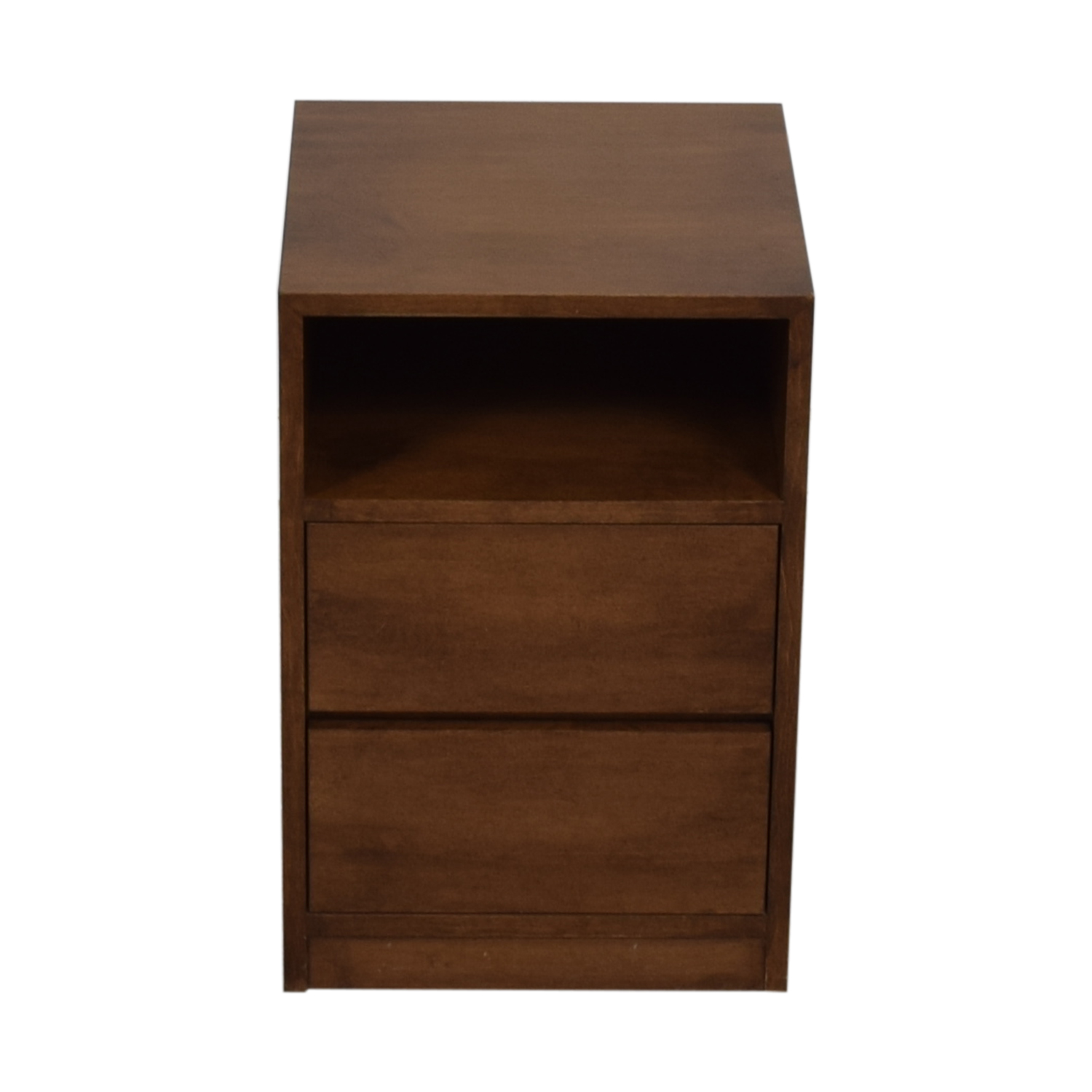 Two-Drawer Wood Nightstand Sofas