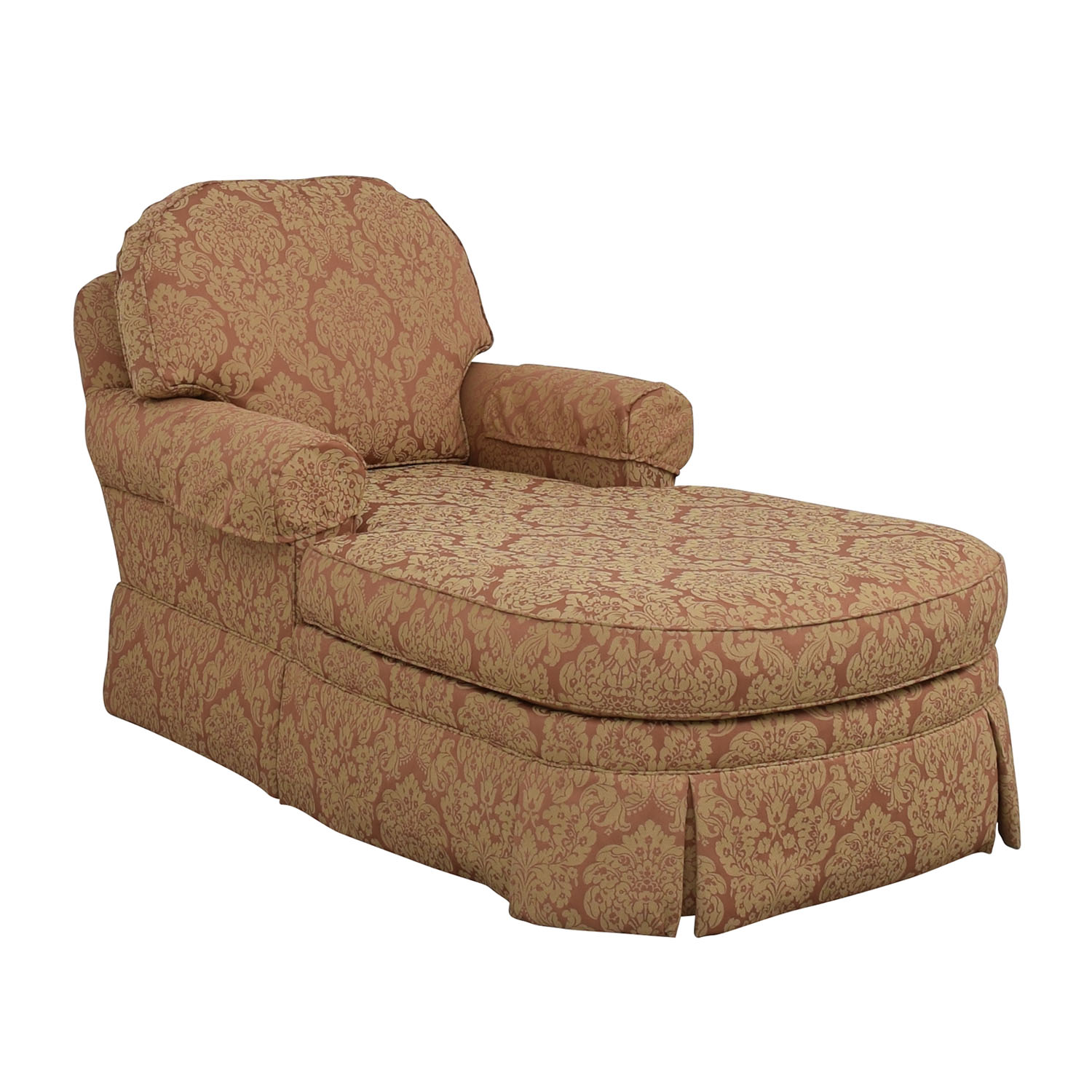 shop Ethan Allen Rose and Tan Chaise Lounge Ethan Allen Chaises