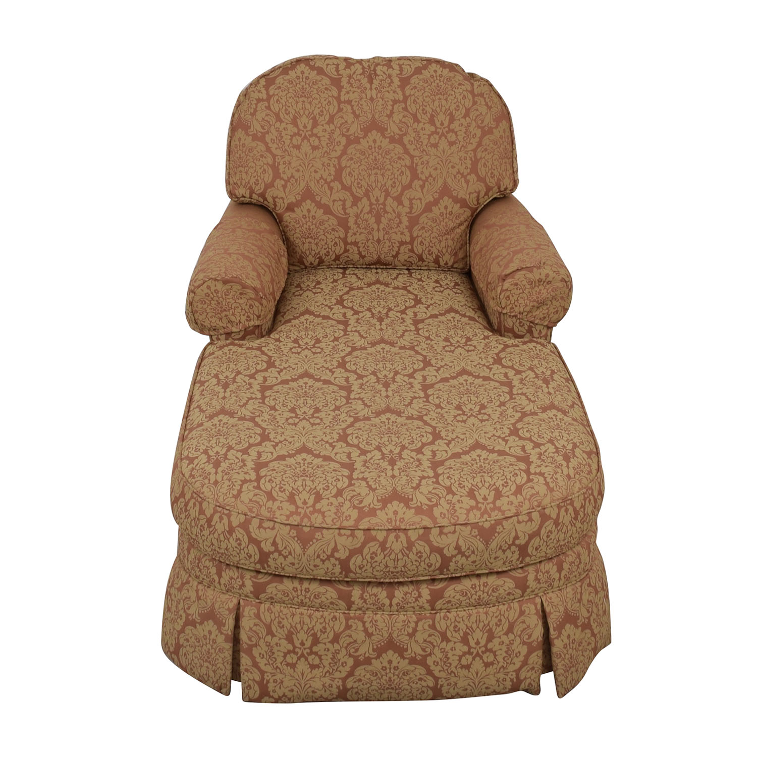 Ethan Allen Ethan Allen Rose and Tan Chaise Lounge price