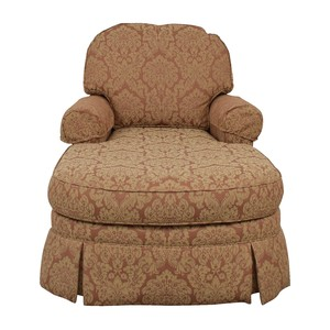 shop Ethan Allen Rose and Tan Chaise Lounge Ethan Allen