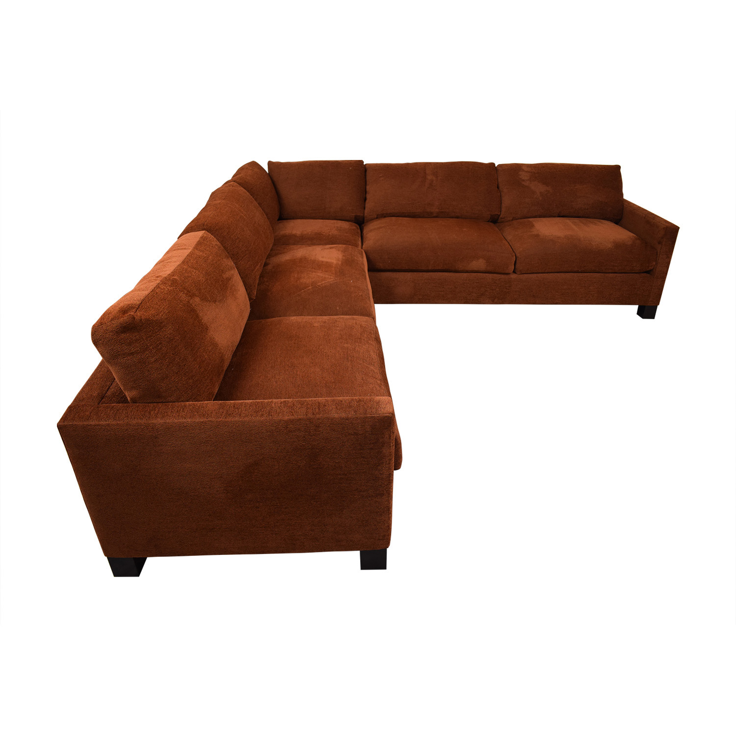 A. Rudin A. Rudin Burnt Orange L-Shaped Sectional second hand