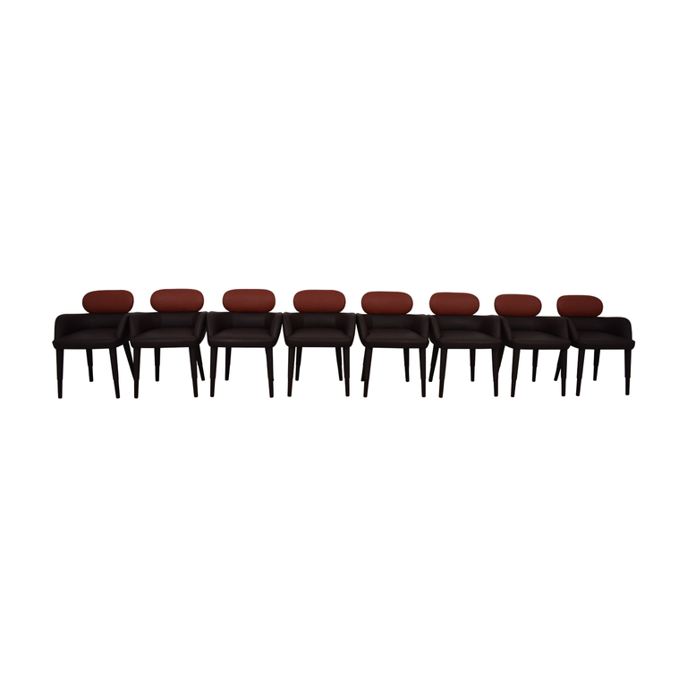 Artistic Frame Artistic Frame 25228A Custom Brown and Red Dining Arm Chairs