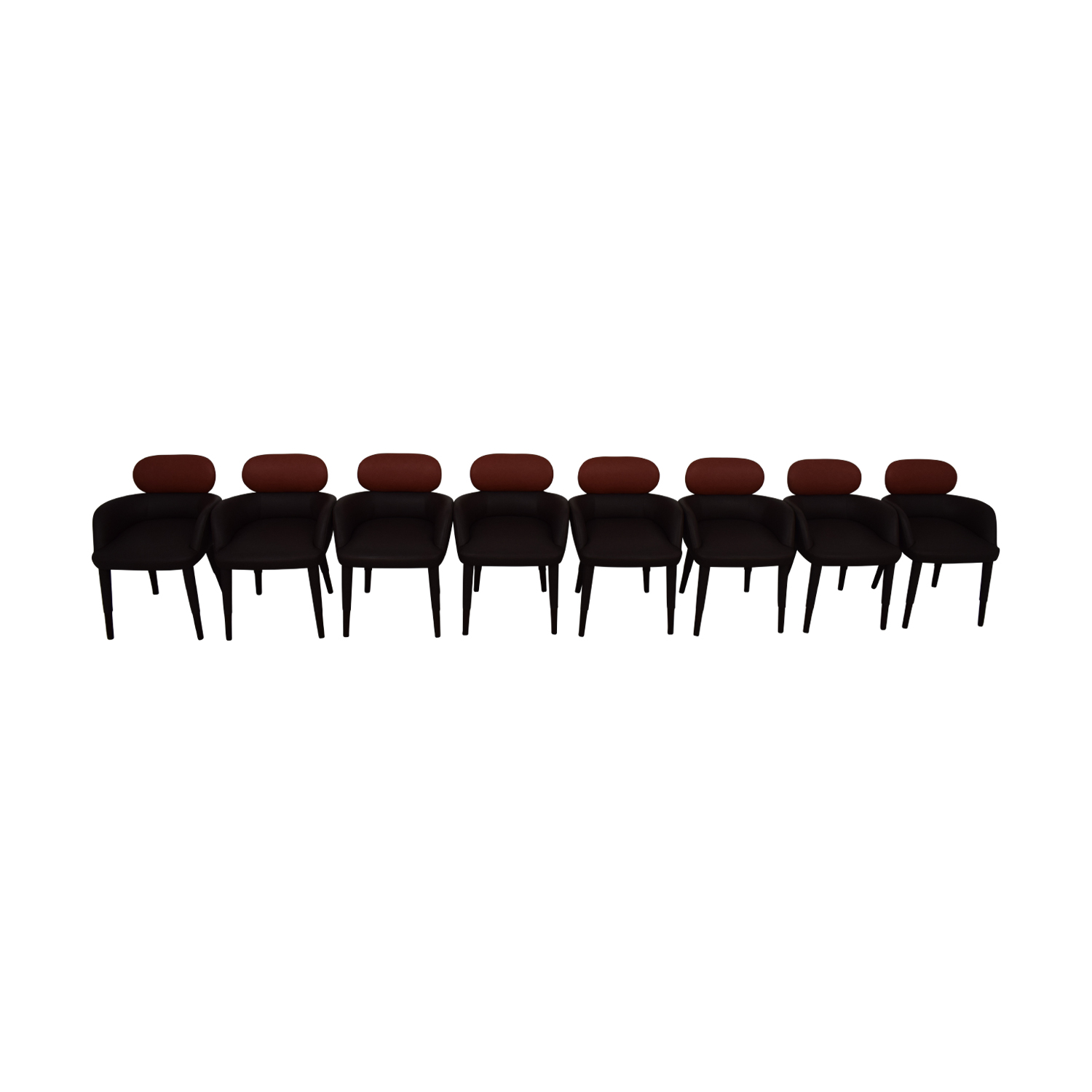 Artistic Frame Artistic Frame 25228A Custom Brown and Red Dining Arm Chairs used