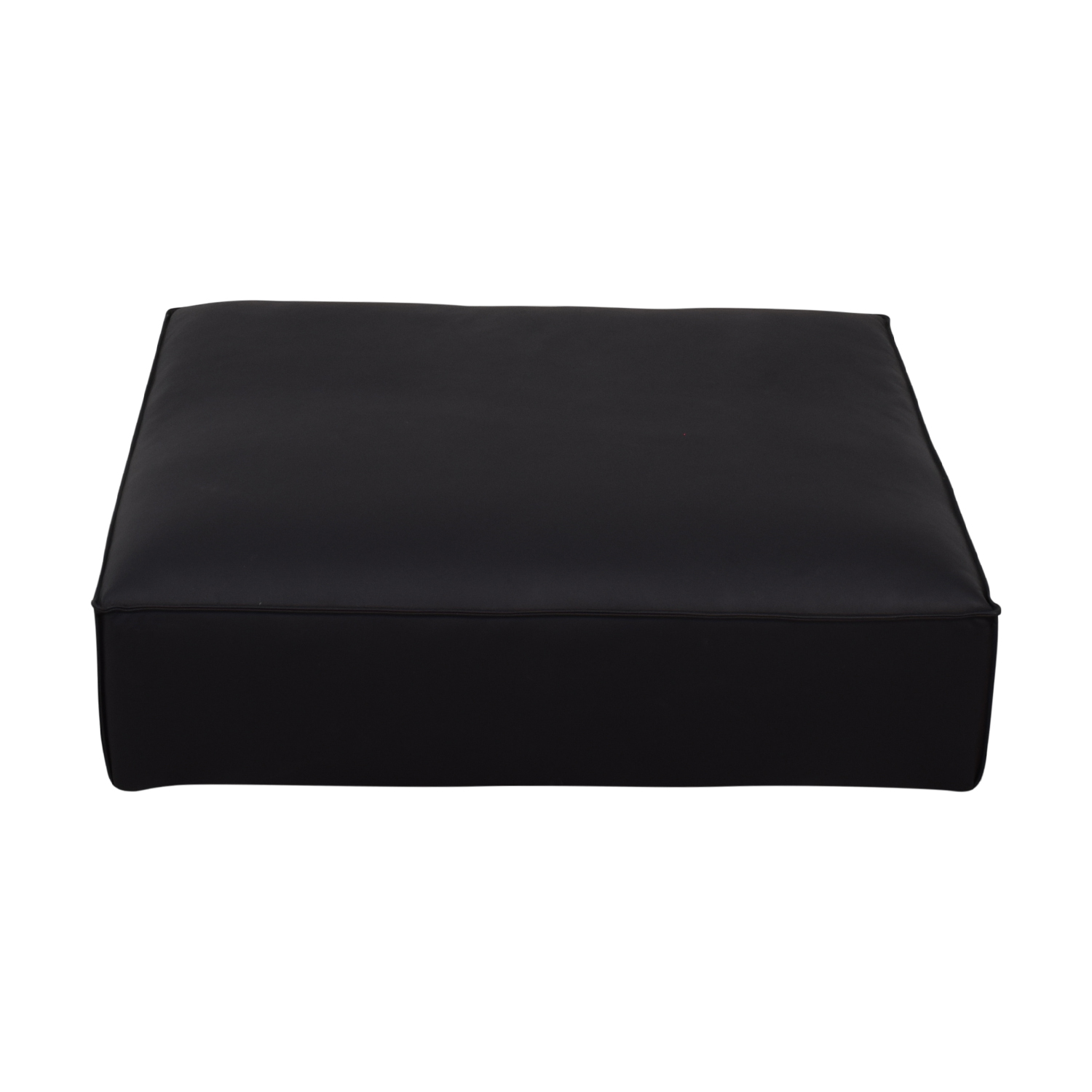 shop Gray Black Leather Ottoman  Sofas