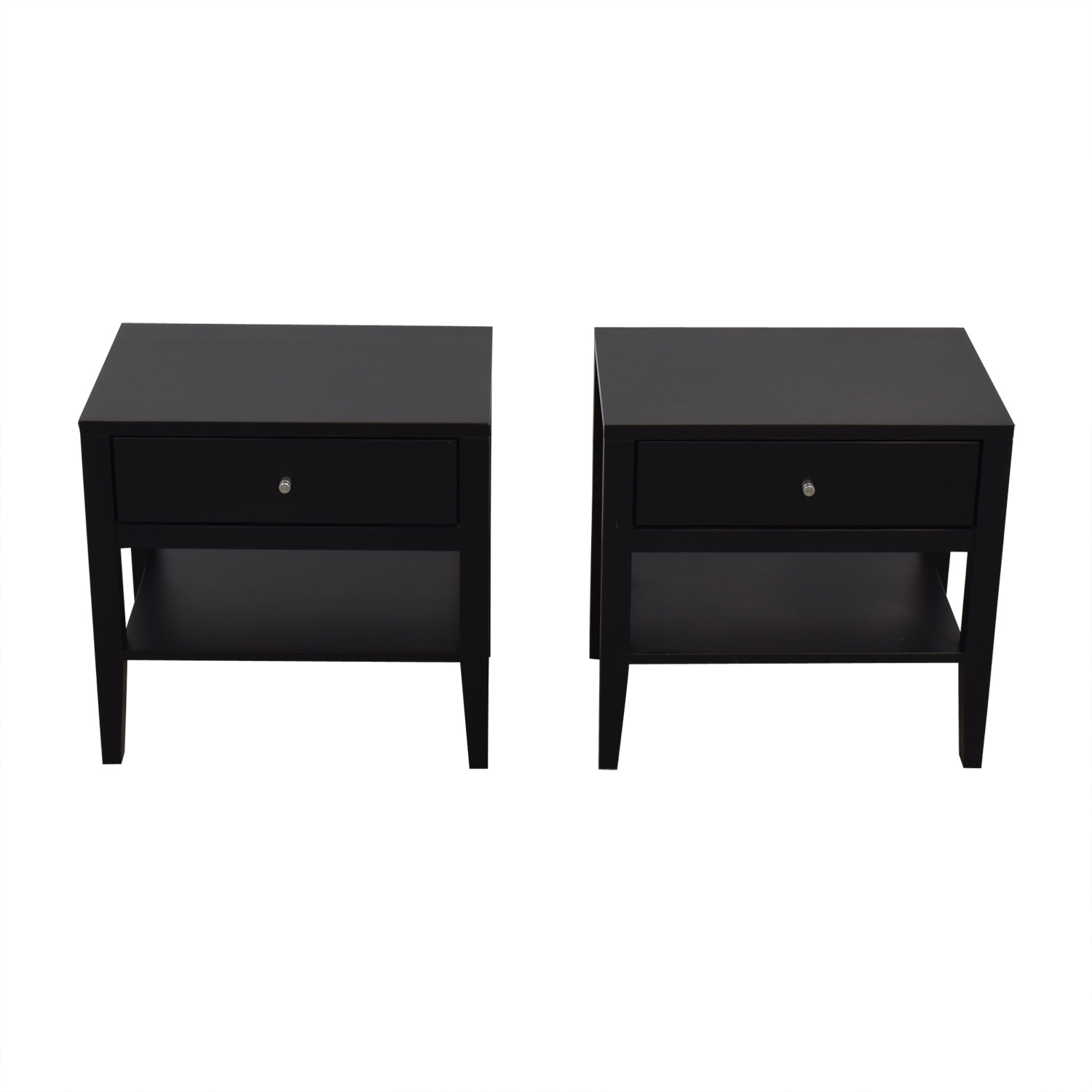 Room and Board Room & Board Calvin Black Single-Drawer Nightstands price