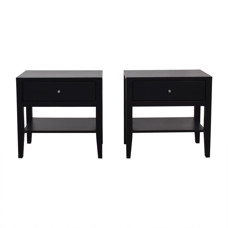 Room and Board Room & Board Calvin Black Single-Drawer Nightstands on sale