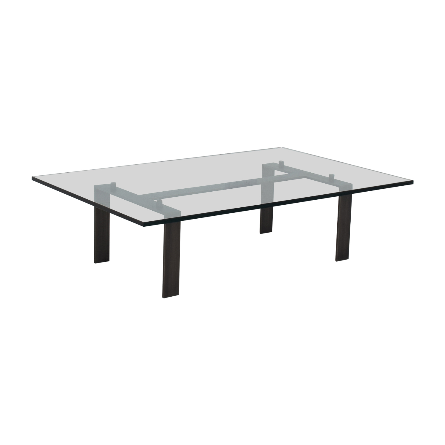 Desiron Empire Gl Top With Satin Steel Coffee Table Online