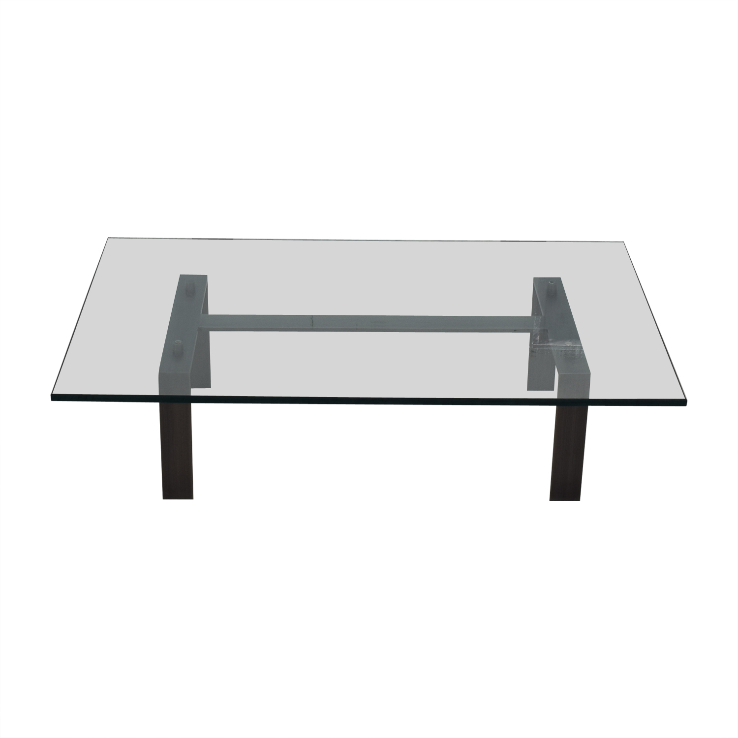 Desiron Desiron Empire Glass Top with Satin Steel Coffee Table nyc