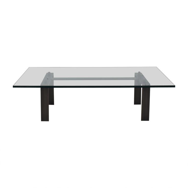 buy Desiron Empire Glass Top with Satin Steel Coffee Table Desiron