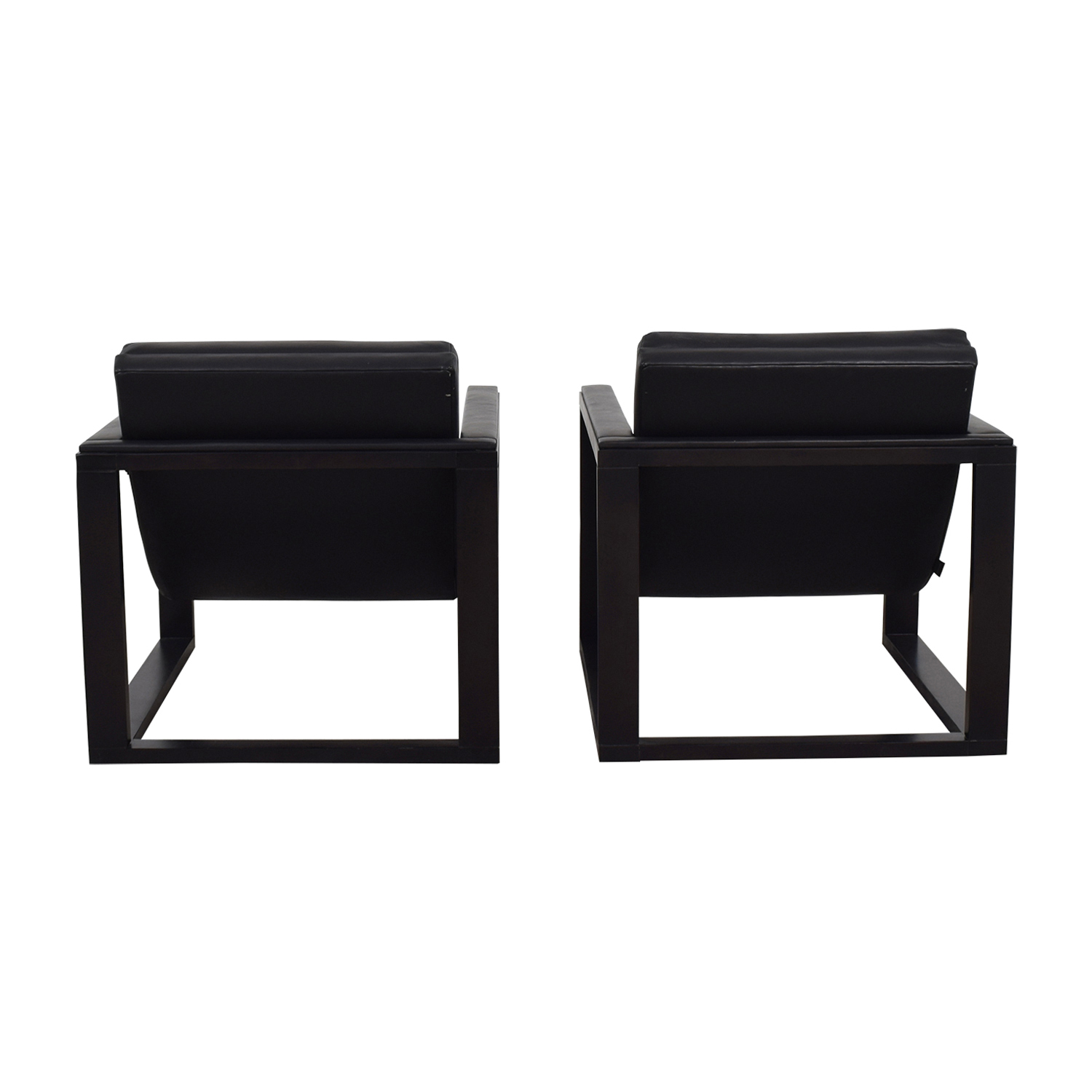Maurice Villency Maurice Villency Architectural Black Accent Chairs nj