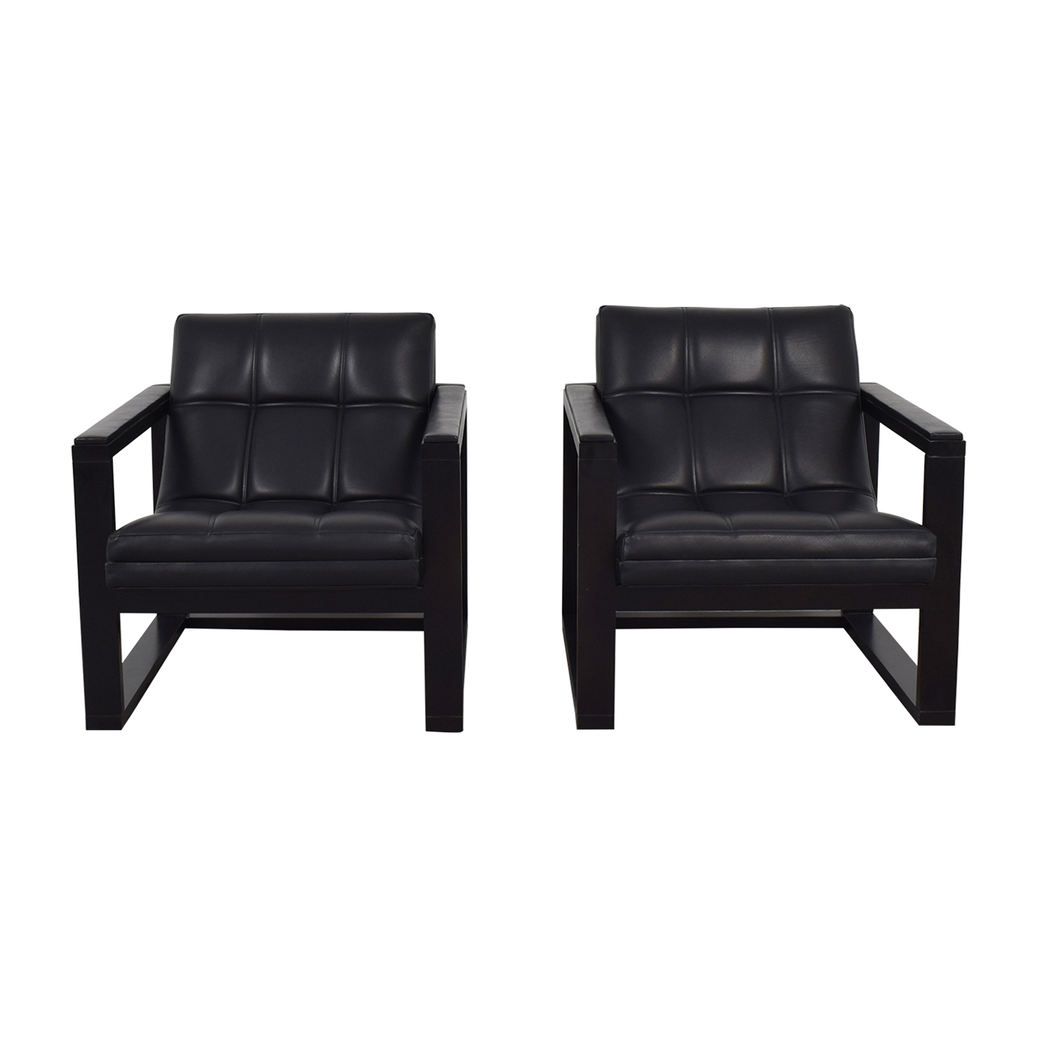 Maurice Villency Architectural Black Accent Chairs sale