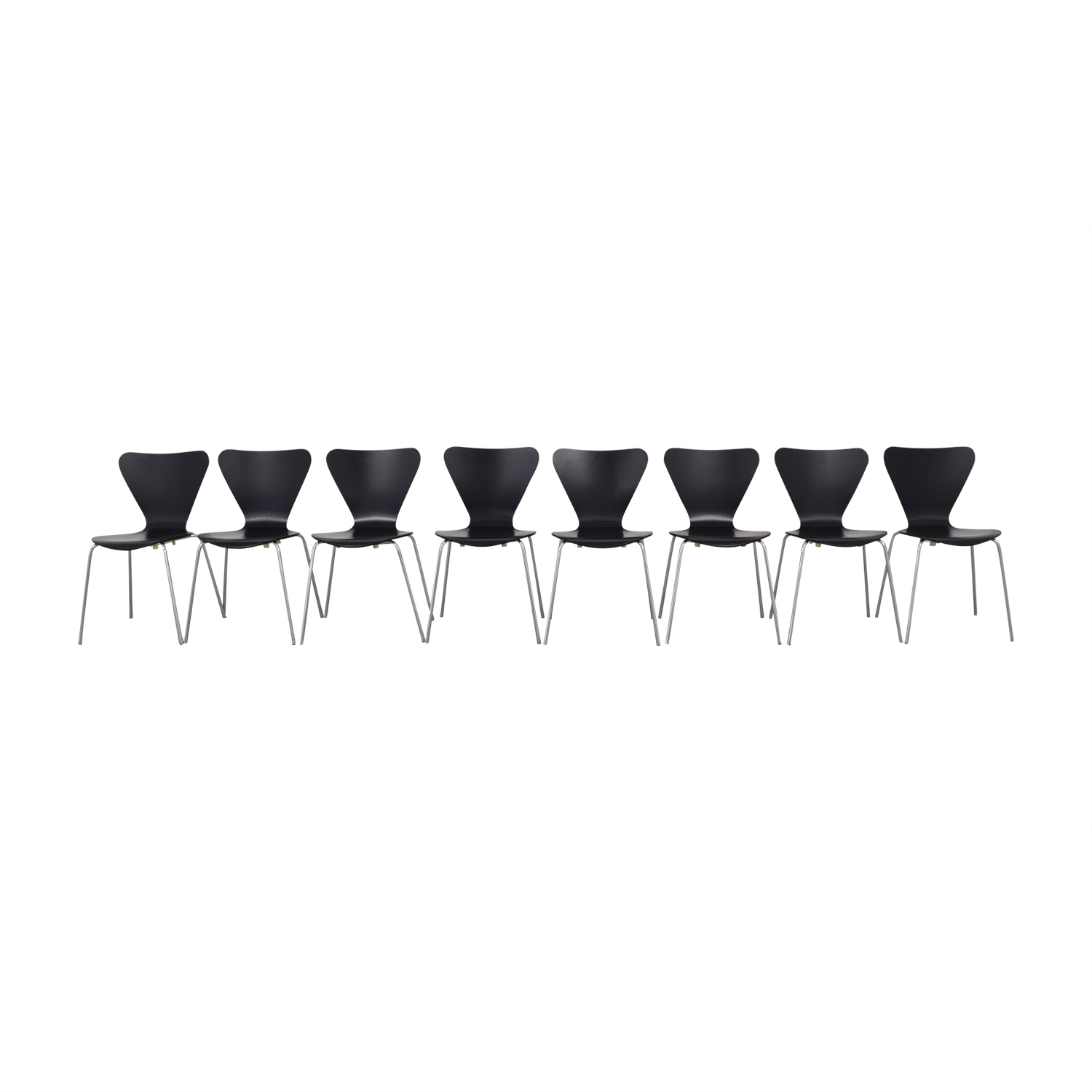 Black Wood Butterfly Chairs second hand