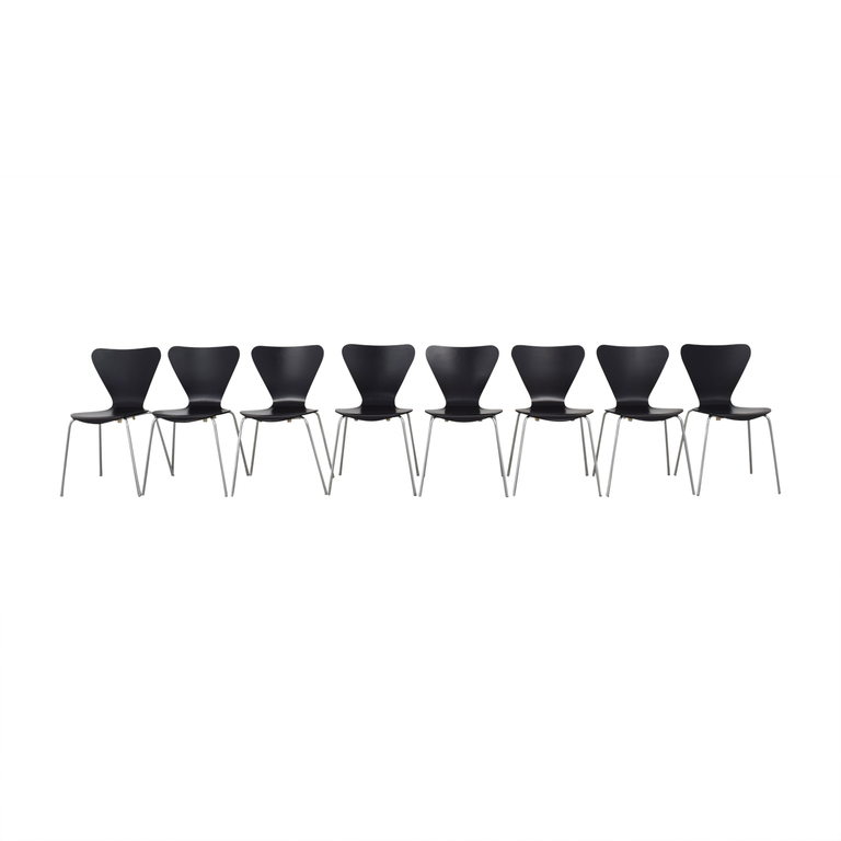 Black Wood Butterfly Chairs