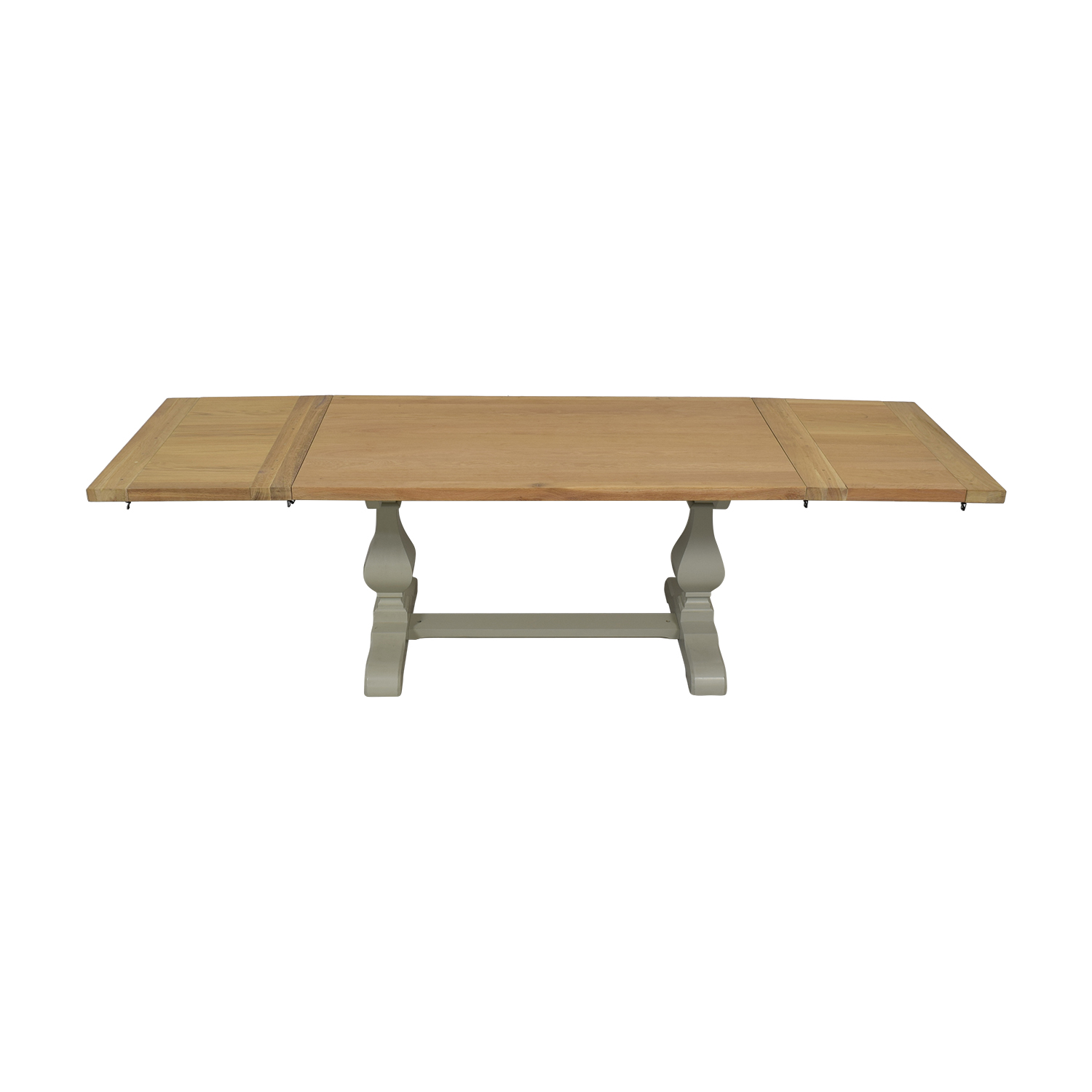 John Lewis John Lewis Beech Wood and Light Green Extendable Dining Table for sale