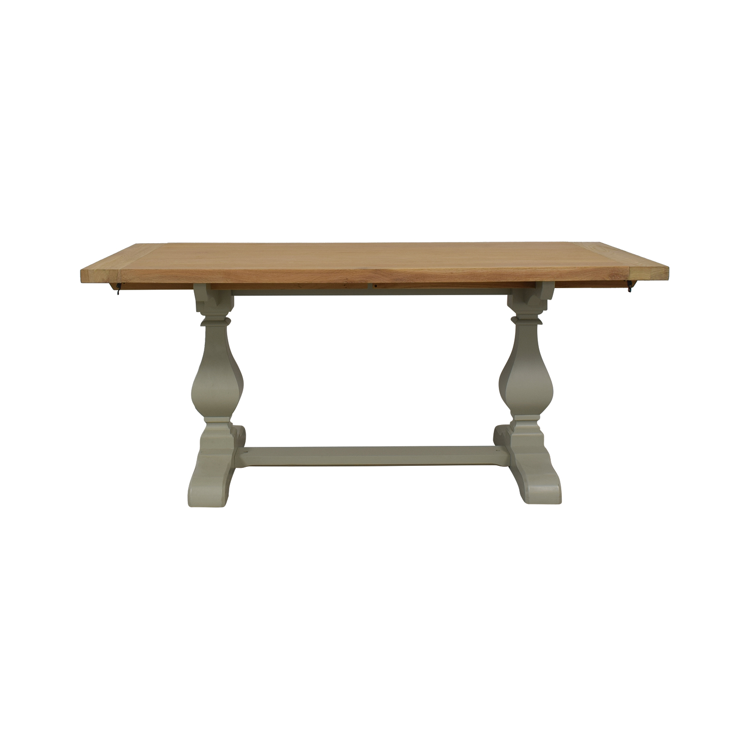 John Lewis Beech Wood and Light Green Extendable Dining Table sale