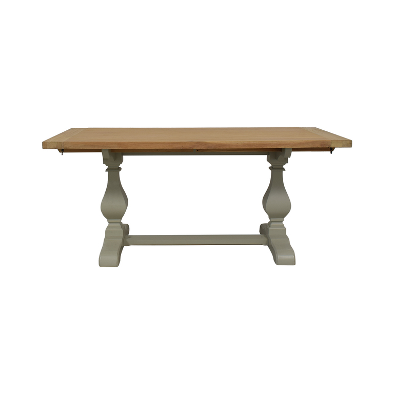 John Lewis John Lewis Beech Wood and Light Green Extendable Dining Table dimensions