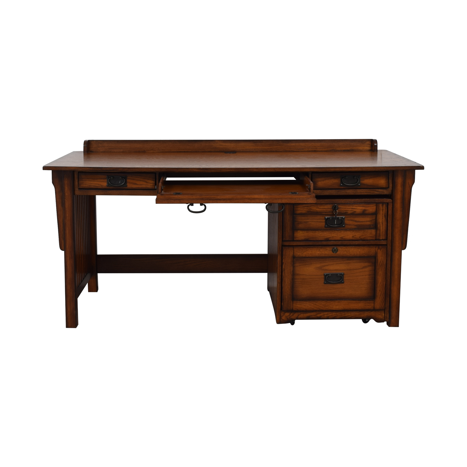 Hammary Furniture Hammary Furniture Wood Desk and File Cabinet second hand