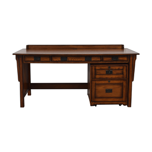 Hammary Furniture Wood Desk and File Cabinet sale