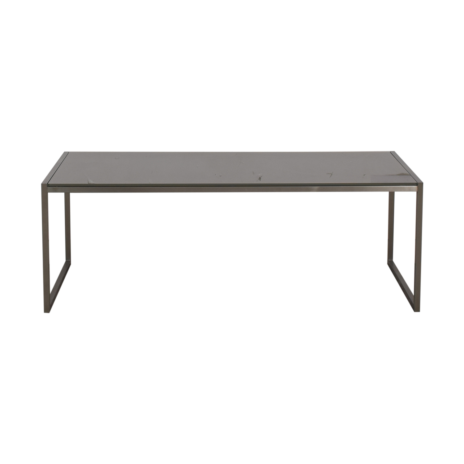 Crate & Barrel Crate & Barrel Silver & Chrome Coffee Table on sale