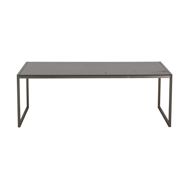 Crate & Barrel Crate & Barrel Silver & Chrome Coffee Table dimensions