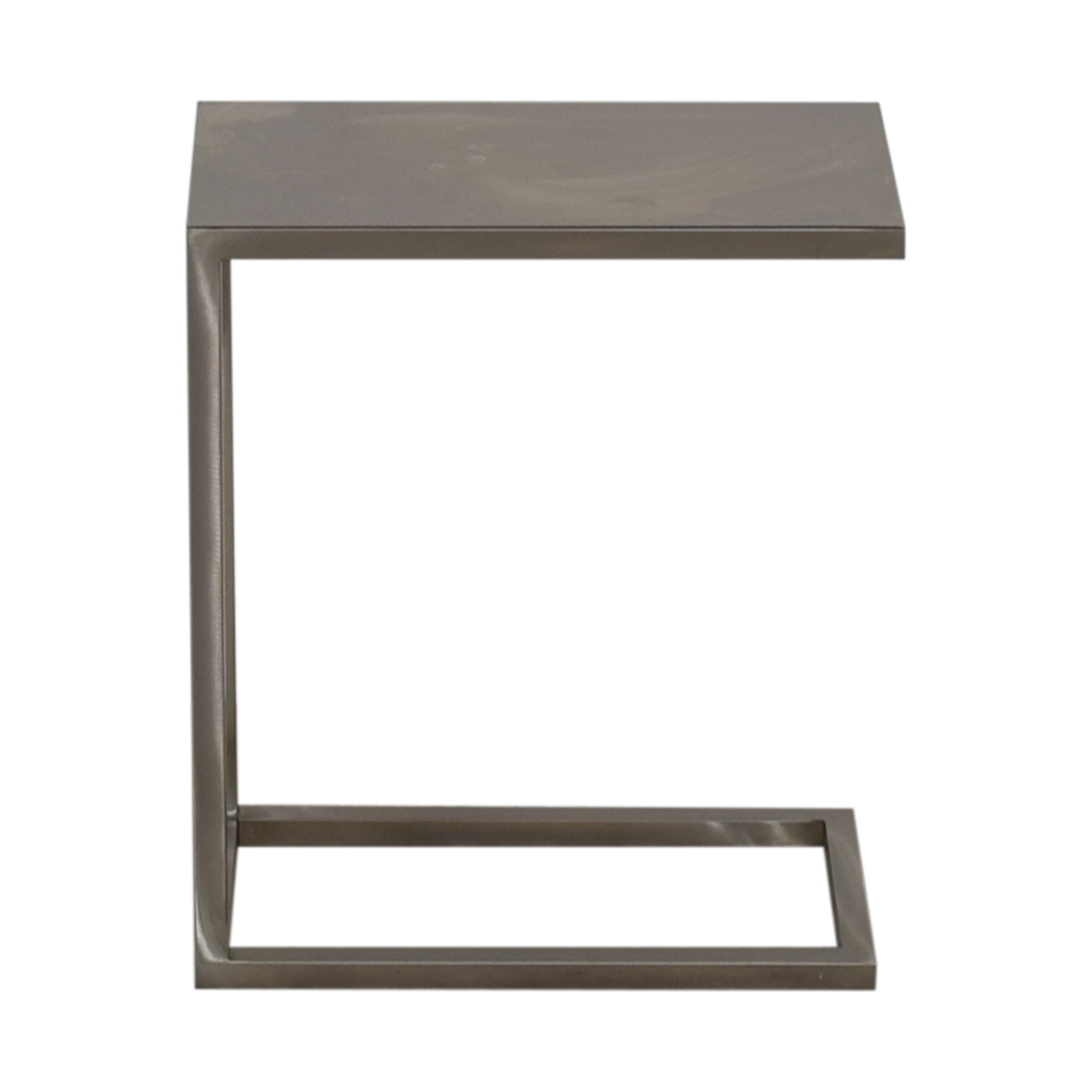 Crate & Barrel Crate & Barrel Silver Glass Side Table price