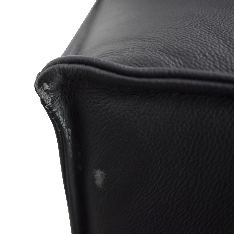 buy Gray Black Leather Sofa