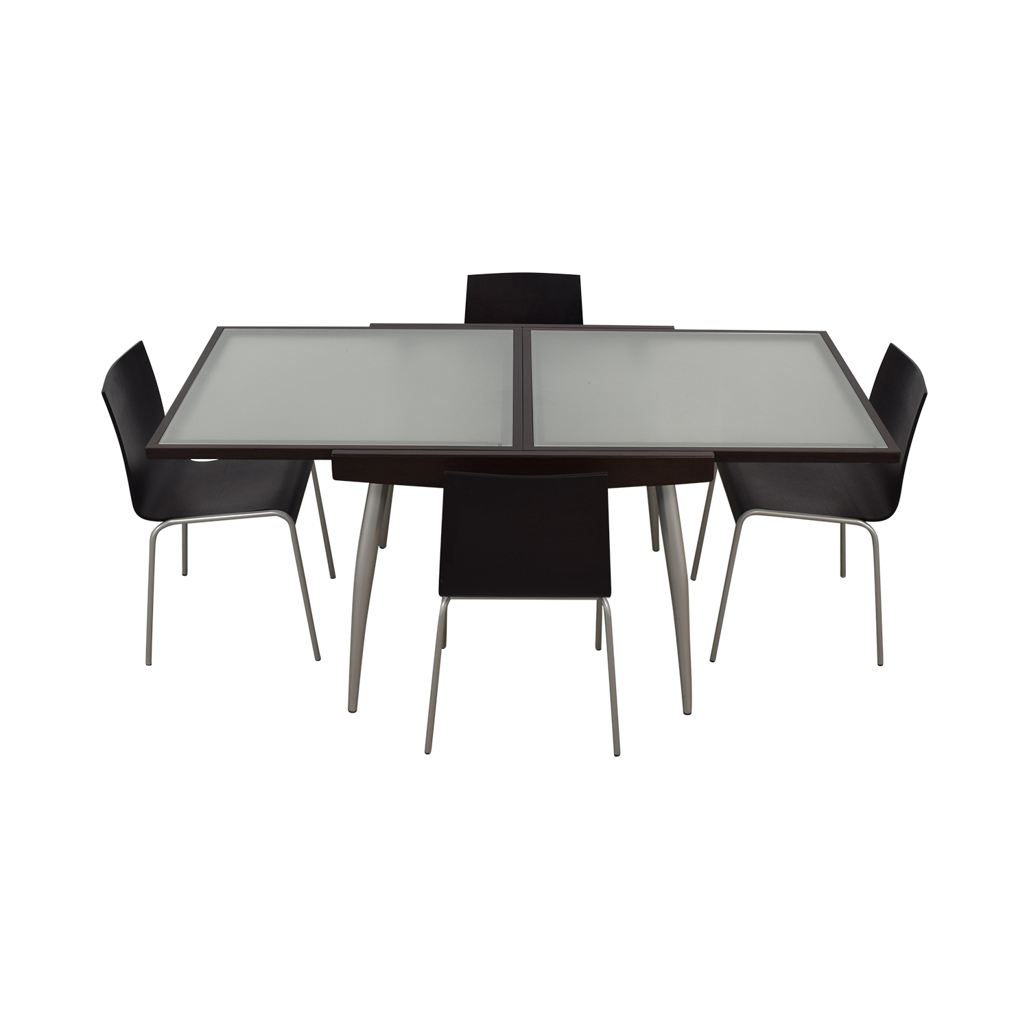 Calligaris Calligaris Extendable Glass and Wood Dining Set nj