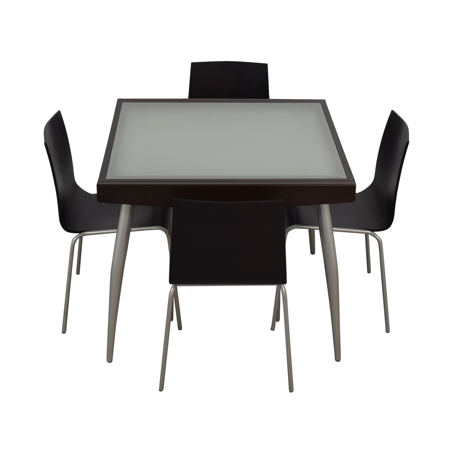 Calligaris Calligaris Extendable Glass and Wood Dining Set used
