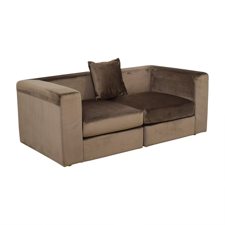 Astonishing 56 Off Interior Define Toby Quartz Mod Velvet Two Cushion Sofa Or Chair Set Sofas Lamtechconsult Wood Chair Design Ideas Lamtechconsultcom