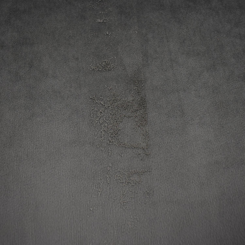 Sloan Greige Grey Velvet Ottoman nj
