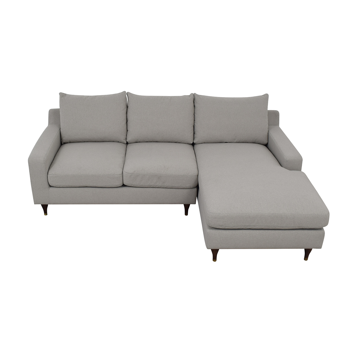 Sloan Beige Plush Right Chaise Sectional second hand