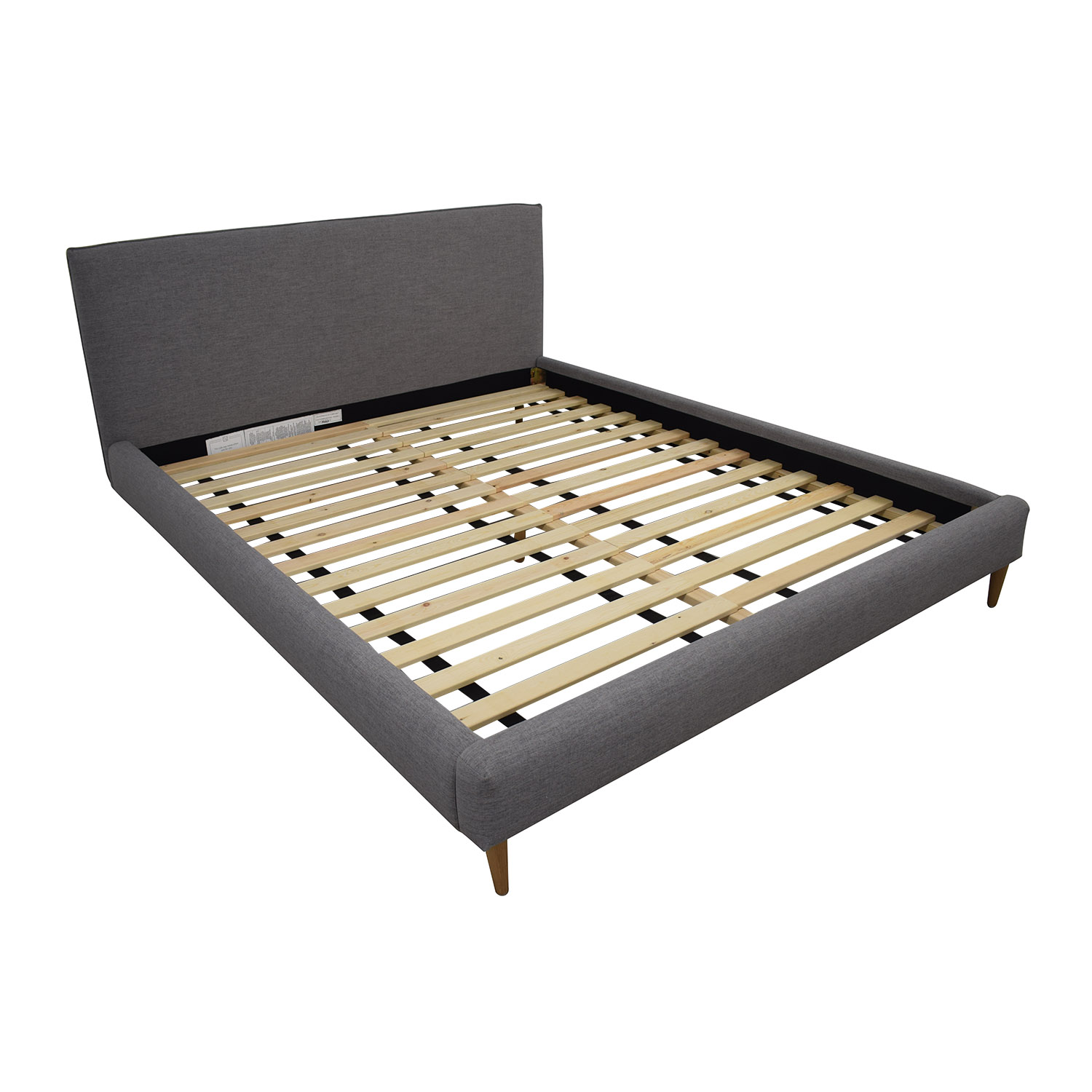 Harper Grey California King Platform Bed Frame sale