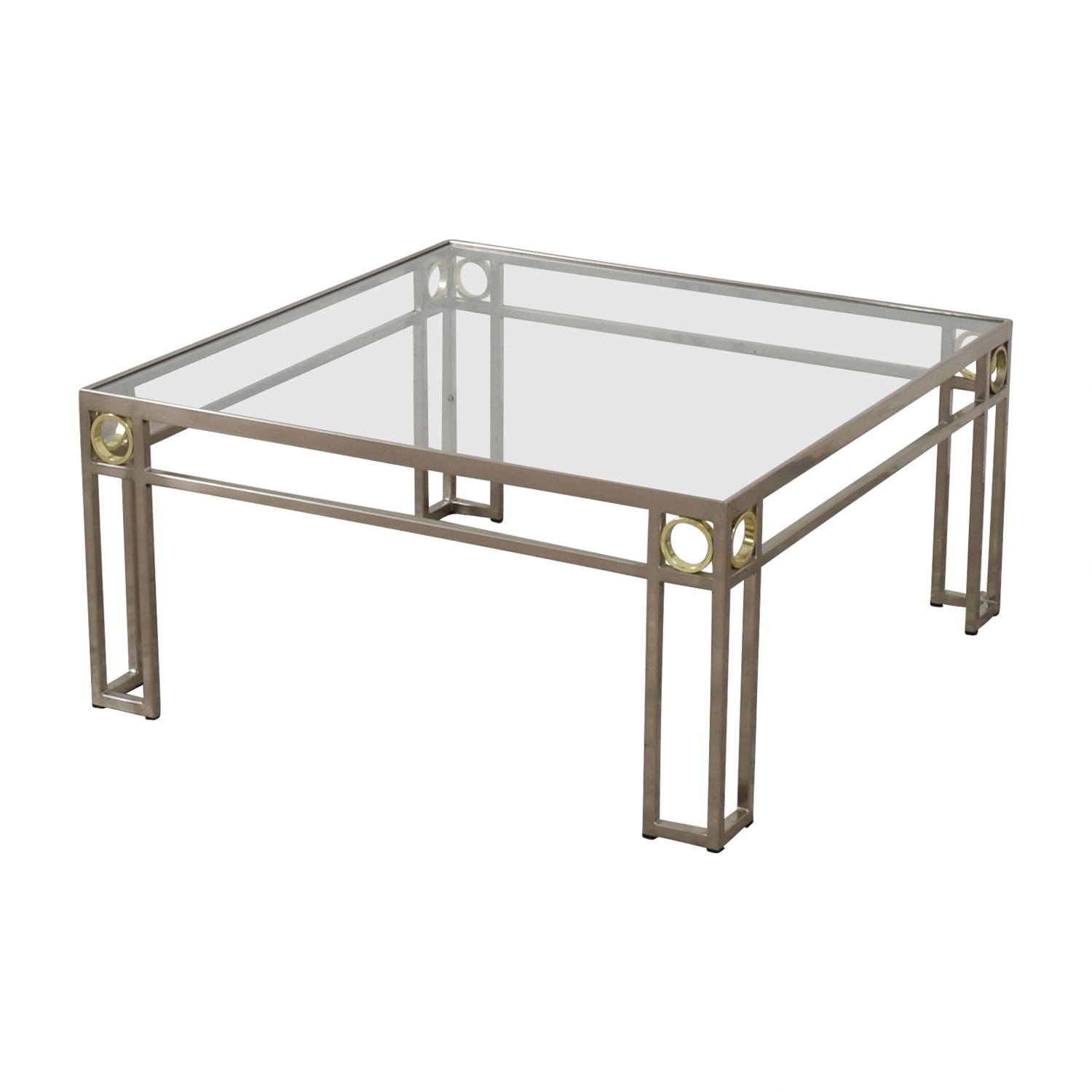 Bloomingdale's Bloomingdale's Glass and Chrome Cocktail Table dimensions