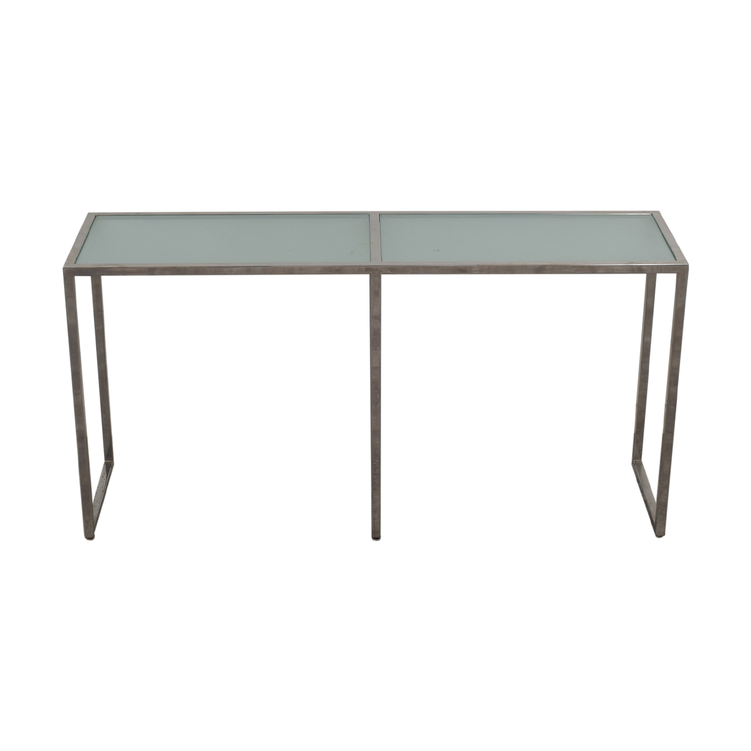 shop TR Designs Tinted Glass and Chrome Console Table TR Designs Tables
