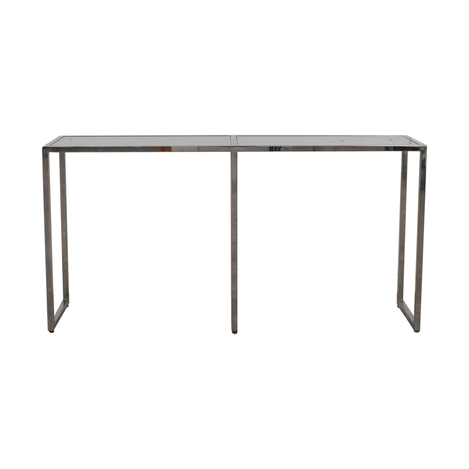 TR Designs TR Designs Tinted Glass and Chrome Console Table for sale