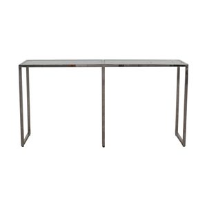 shop TR Designs Tinted Glass and Chrome Console Table TR Designs