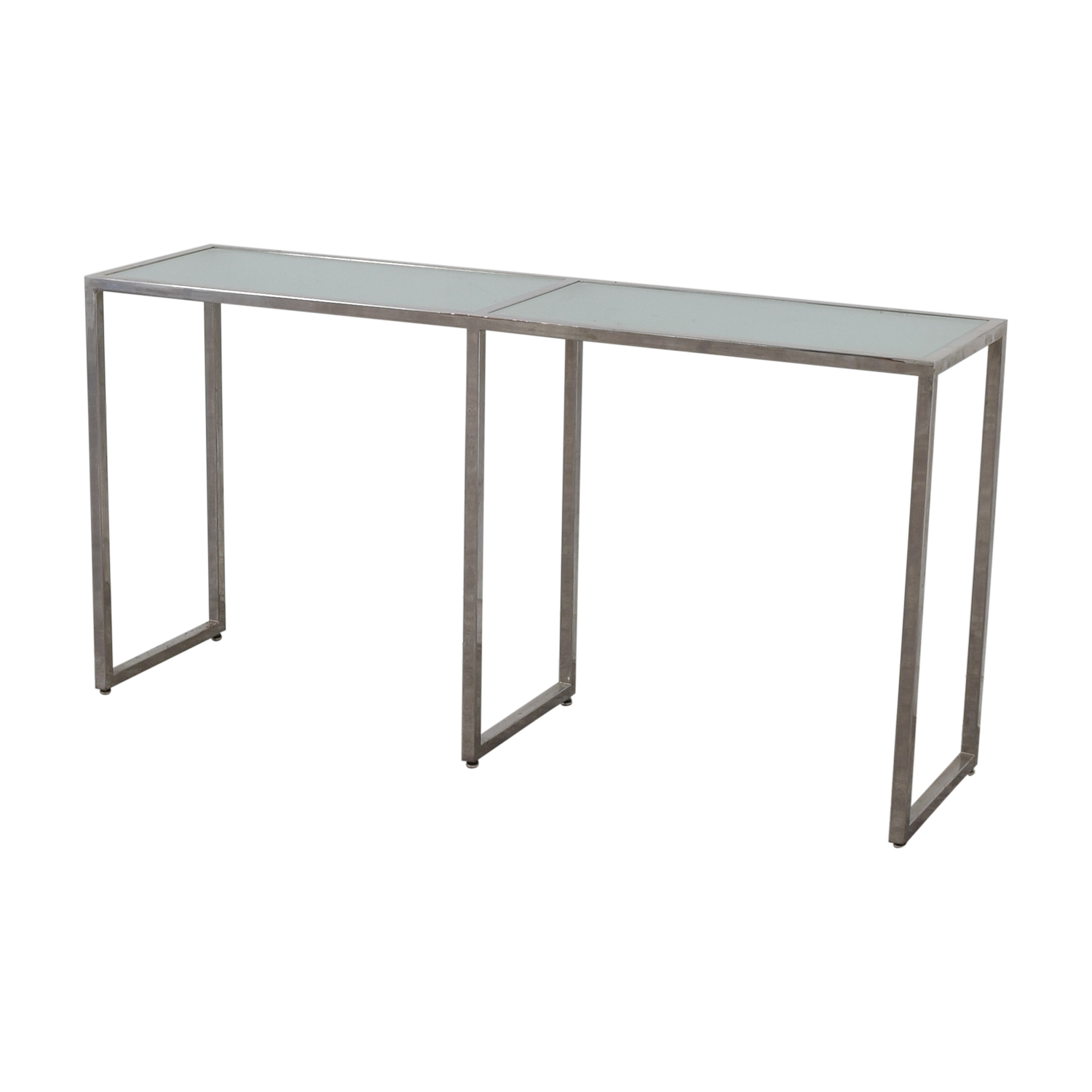 Tr Designs Tinted Gl And Chrome Console Table Accent Tables
