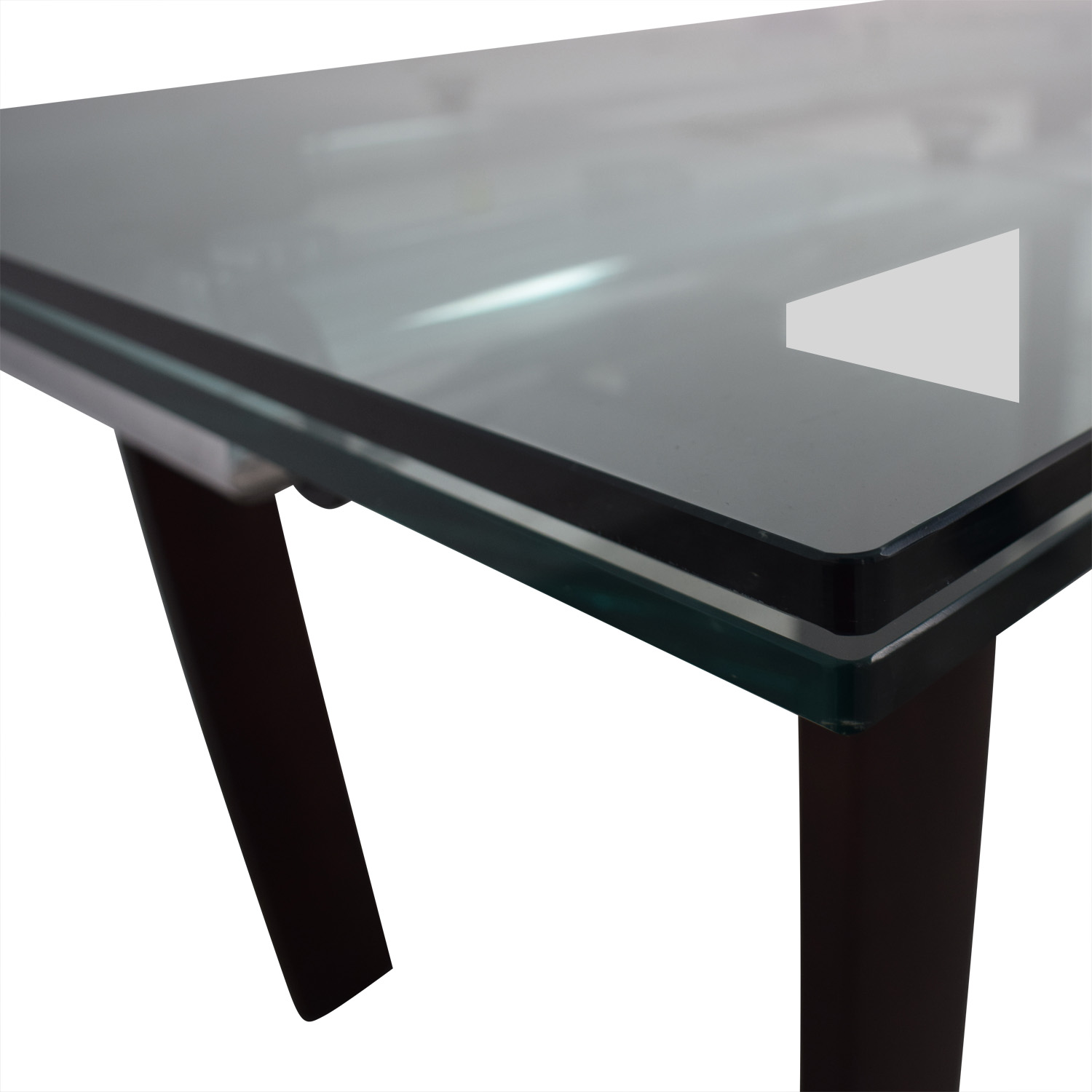 Roche Bobois Glass Top Extendable Dining Table / Dinner Tables
