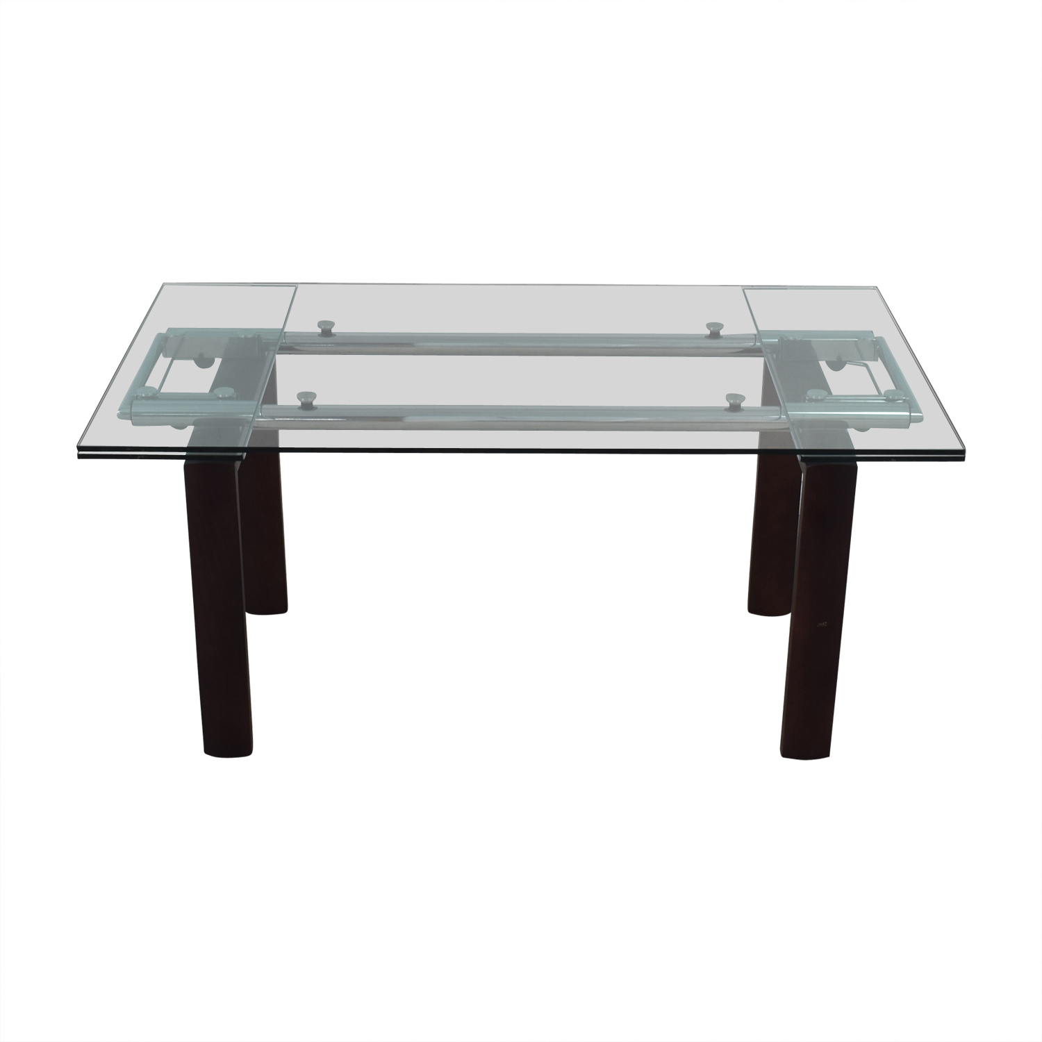 Roche Bobois Glass Top Extendable Dining Table Roche Bobois