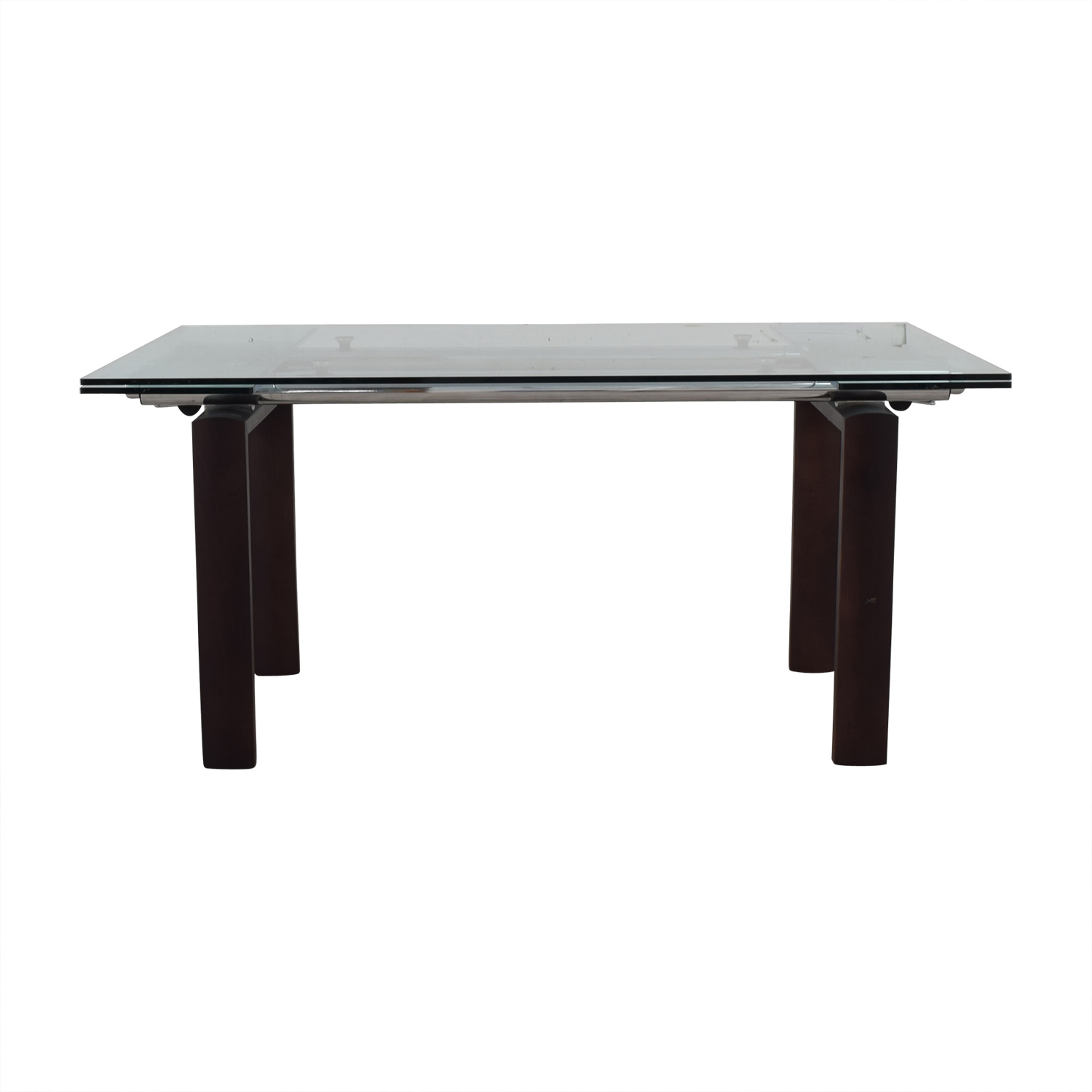 Roche Bobois Glass Top Extendable Dining Table / Tables