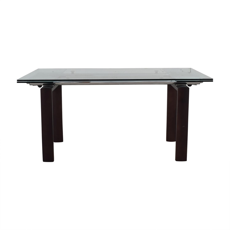 buy Roche Bobois Glass Top Extendable Dining Table Roche Bobois Dinner Tables