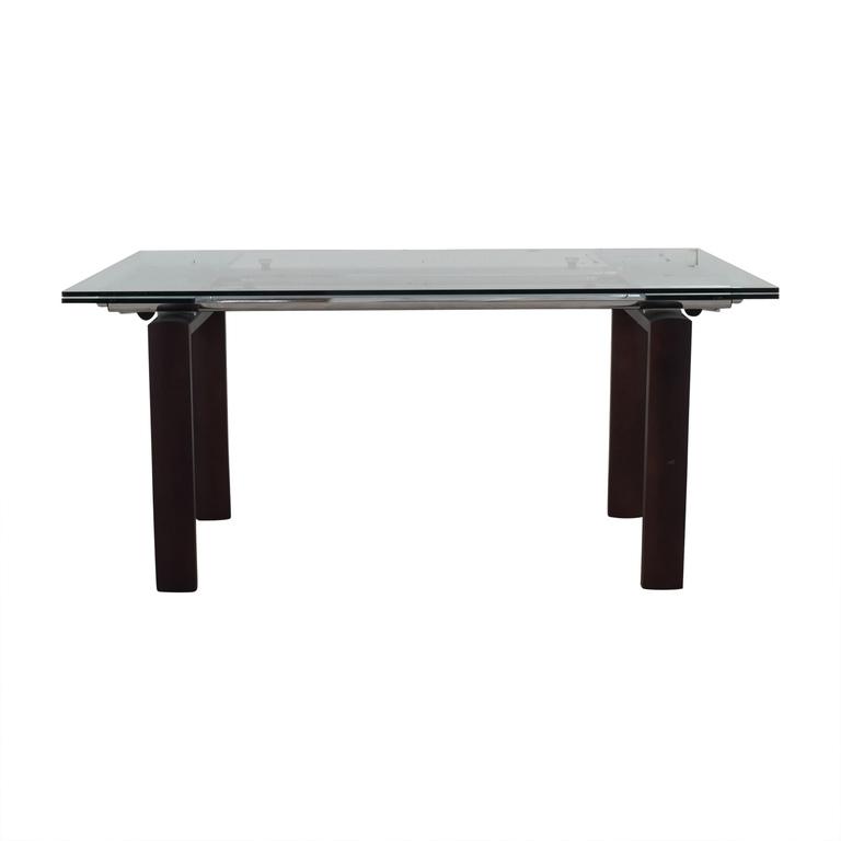shop Roche Bobois Roche Bobois Glass Top Extendable Dining Table online