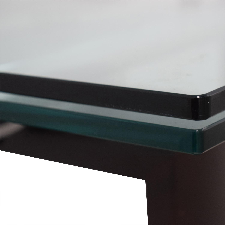 Roche Bobois Glass Top Extendable Dining Table Roche Bobois
