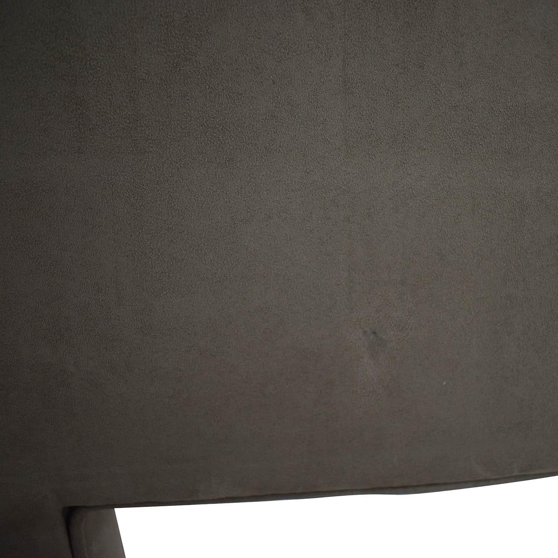 The Door Store Grey Suede Queen Headboard / Beds